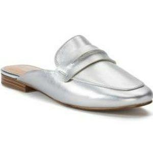 NWT APT.9 Silver Flat Mules 7.5/10 Final Price